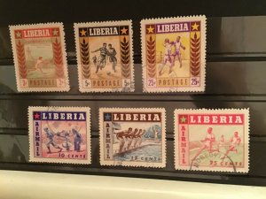 Liberia cancelled sport stamps R21815