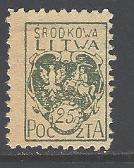 Central Lithuania Sc # 2 mint hinged (DT)