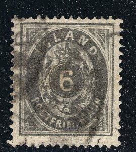 Iceland Attractive Sc#10 Used F-VF SCV $40...Such a bargain!!