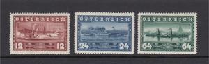 Austria 382-4 Steamships mint