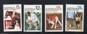 Australia Sc 500-3 1971 RSPCA Centenary stamp set mint NH