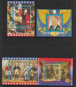 Equatorial Guinea MNH 4-S/S USA Bicentennial 1976
