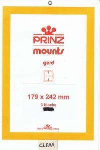 PRINZ CLEAR MOUNTS 179X242 (3) RETAIL PRICE $10.50