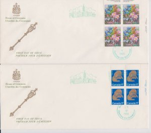 CANADA FDC FROM HOUSE OF COMMONS STAMPS #855-856 LOT#M123