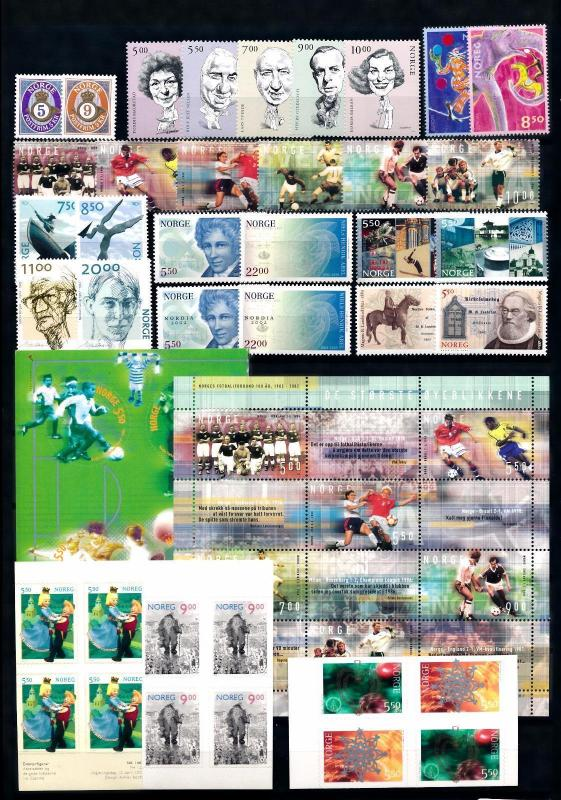 [59913] Norway 2002 Complete Year Set  MNH
