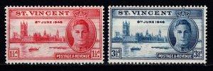 St Vincent 1946 George VI Victory, Set [Unused]