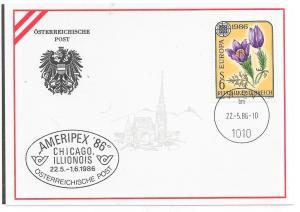 Austria #1346 6s EUROPA on special Ameripex 86 envelope
