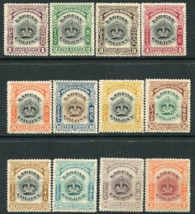 LABUAN-1902-03 Set to $1 Sg 117-128 MOUNTED MINT V20172