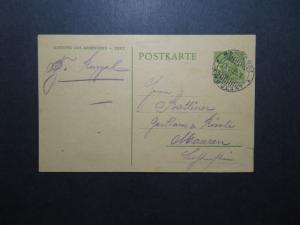 Liechtenstein 1924 10 Rp Postal Card Ambulant CDS / SM Right Tear - Z11848