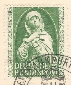 Germany 1952 Special Postcard with 10+5 pfg. Nurnberg Museum semi +2 more