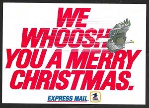 USA USPS ad card: Express Mail Eagle