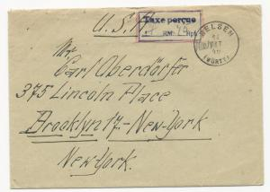 Germany Wurtt Oct 14 1946 from French Zone Extremely Rare Cover Mi #1-13 Type II