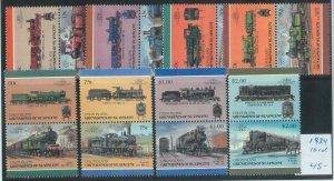 78414 - UNION Islands - STAMPS - TRAINS  1984 - 16 Values MNH - SPECIMEN