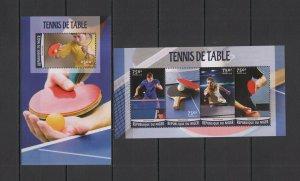 ST1944 2016 NIGER SPORT TABLE TENNIS PING PONG KB+BL MNH