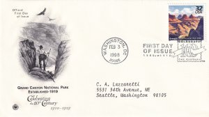 1998, Grand Canyon Park-1919, PCS, FDC (E12297)