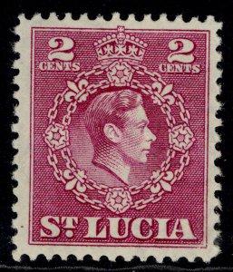ST. LUCIA GVI SG147, 2c magenta, M MINT.