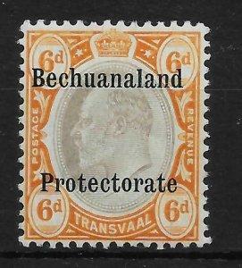 BECHUANALAND SGF1 1910 6d BLACK & BROWN-ORANGE MTD MINT