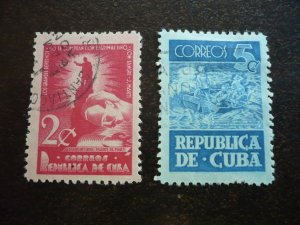 Stamps - Cuba - Scott# 418-419 - Used Set of 2 Stamps