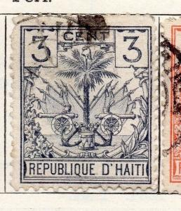 Haiti 1891 Early Issue Fine Used 3c. 100927