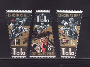 Malta 375-377 Set MNH Christmas (C)