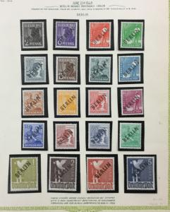 (BJ Stamps) GERMANY, Berlin, 9N1-9N20, 1948 set of 20, FVF, MNH/1 H. CV $270.00.