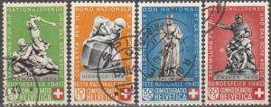 Switzerland #B100-01, B103-4 F-VF Used CV $16.55