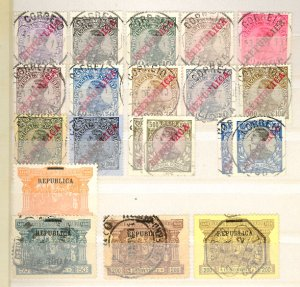 Portugal  Used CV$8000.00 Classic Issues Accumulation Thru 1900 On Stockpages
