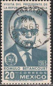 MEXICO 932, Visit of President R. Betancourt of Venezuela USED. VF. (1108)