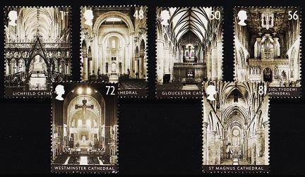 Great Britain. 2008 Cathedrals.(6 Values). Unmounted Mint