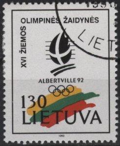 Lithuania 423 (used) 130k Albertville Olympics (1992)