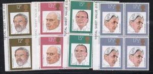 Great Britain Sc 920-23 1980 Conductors  stamp set blocks of 4 mint NH