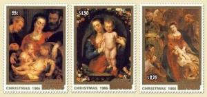 Cook Islands - Christmas Art - 3 Stamp  Set 3L-006