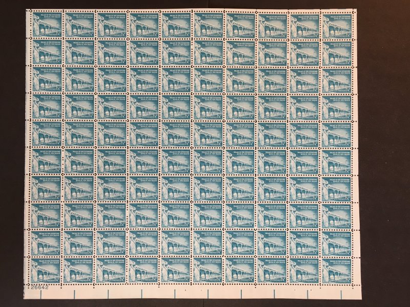 1954 sheet, 1 ¼ cent Liberty series Palace of Governors Sc# 1031A