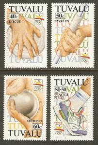 Tuvalu #612-15 NH Summer Olympics Barcelona