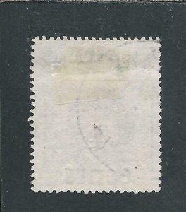 LABUAN 1904 4c on 5c GREEN FU SG 129 CAT £50