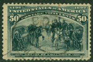 EDW1949SELL : USA 1893 Scott #240 Very Fine, Used. Small faults. Catalog $175.00