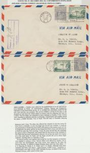 AUSTRALIA 1929 FLIGHT COVERS(5) ADELAIDE-CEDUNA-KALGOORIE-PERTH COMPLETE SET