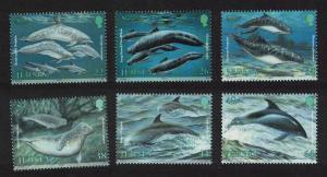 Jersey Dolphins Whales Porpoises Marine Mammals 6v SG#947-952