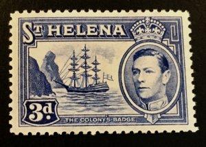 St. Helena Scott 122 KGVI Definitive -Mint