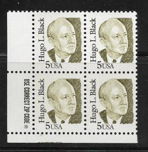 2172 Hugo Black Chief Justice block of 4 MNH