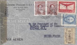 1944, Buenos Aires, Argentina to Buffalo, NY, Censored, See Remark (C2556)