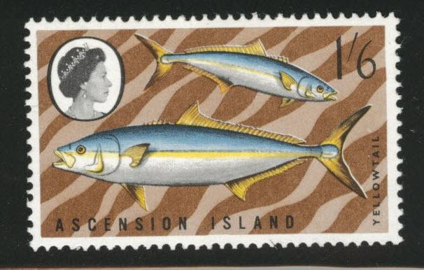 Ascension Island Scott  122 MH* 1968 Yellowtail fish stamp