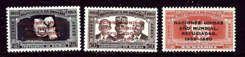 Panama C227-29 MNH 1960 Oerprints    (ap5476)