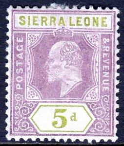 Sierra Leone - Scott #97 - MH - Paper adhesion - SCV $9.00