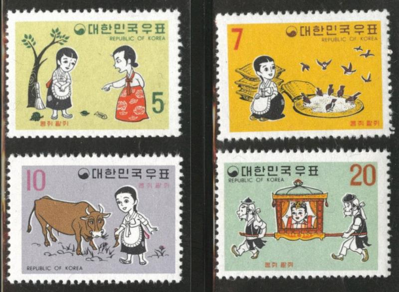 Korea Scott 664-667 MNH** Sept. 1 1969 Fable set  CV$18.50