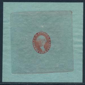 #70-E2e DIE I ESSAY ON DULL LIGHT BLUE GREEN BOND (ORANGE RED) SUPERB BQ7326