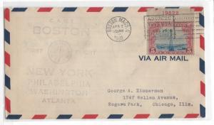 United States, C11, First Flight CAM 1 Boston - New York, Used