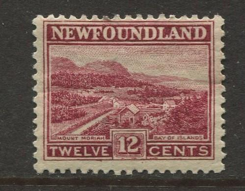 Newfoundland - Scott 141 - Pictorial Definitive - 1923 - MH - Single 12c Stamp