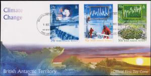 British Antarctic Territory Scott 342-344 Unaddressed.