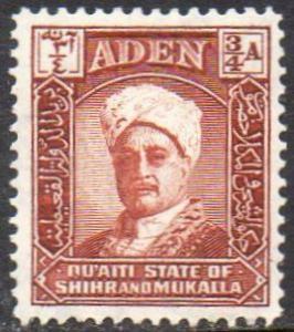 Aden (Quaiti State of Shihr and Mukalla) 1942 ¾a Sultan MH